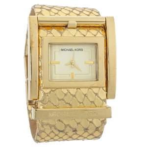 Michael Kors Yellow Gold Plated Stainless Steel MK2133 Women's Wristwatch 38 mm