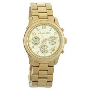 Michael Kors Yellow Gold Plated Stainless Steel MK5055 Women's Wristwatch 38mm