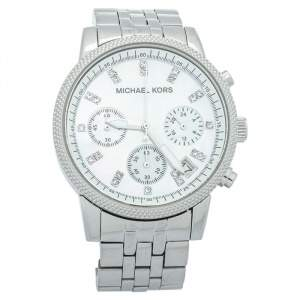 Michael Kors Mother Of Pearl Stainless Steel Chronograph MK5020 Women's Wristwatch 37mm