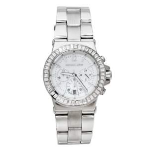 Michael Kors White Stainless Steel Dylan MK5411 Women's Wristwatch 42 mm