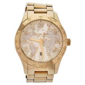 ساعة يد نسائية مايكل كورس لايتون أم كيه5959 ستانلس ستيل لون ذهب أصفر 43 مم