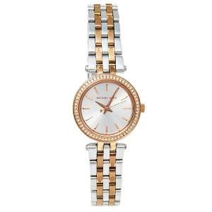 Michael Kors Silver Two Tone Stainless Steel Darci MK3298 Women's Wristwatch 26 mm