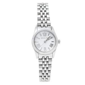 Michael Kors Silver Stainless Steel Lexington MK3228 Women's Wristwatch 26 mm