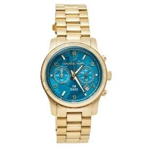 ساعة يد نسائية مايكل كورس واتش هنغر ستوب إم كيه5815 ستانلس ستيل ذهبي اللون زرقاء 38 مم