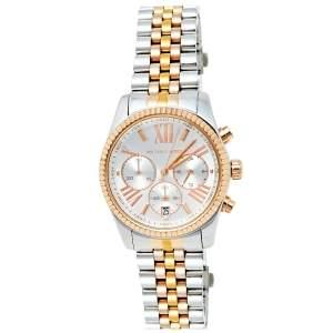 Michael Kors Silver Tri-Tone Stainless Steel Lexington MK5735 Women's Wristwatch 38 mm