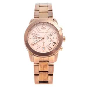 Michael Kors Rose Gold Tone Stainless Steel Mercer MK5727 Women's Wristwatch 41.5 mm