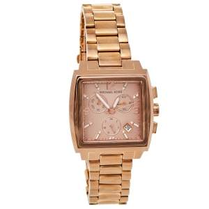 Michael Kors Rose Gold Tone Stainless Steel Chronograph MK5331 Women's Wristwatch 37 mm