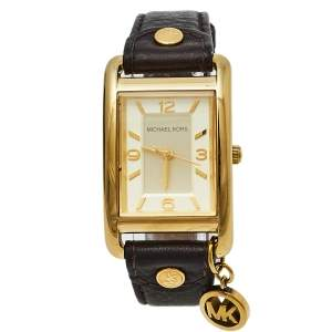 Michael Kors Gold Tone Stainless Steel Charm Jet Set MK2166 Women's Wristwatch 26 mm