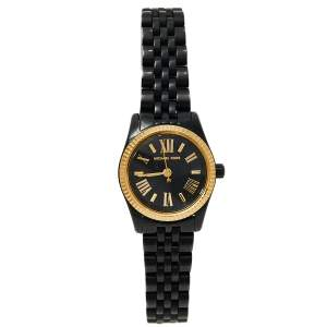 Michael Kors Black Ion Plated Stainless Steel Lexington MK3299 Women's Wristwatch 26 mm