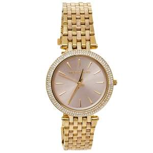Michael Kors Pink Gold Tone Stainless Steel Darci MK3507 Women's Wristwatch 39 mm