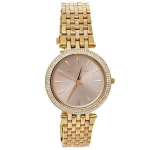 Michael Kors Pink Gold Tone Stainless Steel Darci MK3507 Women's Wristwatch 39 mm
