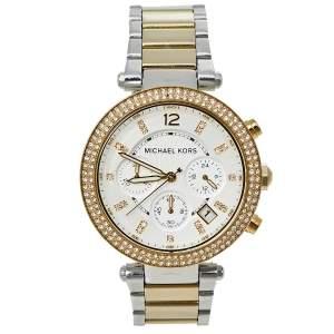 Michael Kors Silver Two-Tone Stainless Steel Parker MK5626 Women's Wristwatch 39 mm