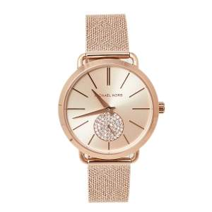 Michael Kors Rose Gold Tone Stainless Steel Portia MK3845 Women's Wristwatch 37 mm