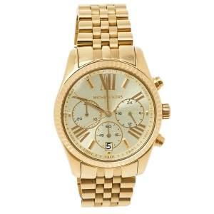 Michael Kors Champagne Gold Tone Stainless Steel Lexington MK5556 Women's Wristwatch 38 mm