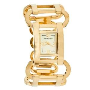 Michael Kors Gold Tone Stainless Steel MK3065 Women's Wristwatch 27 mm