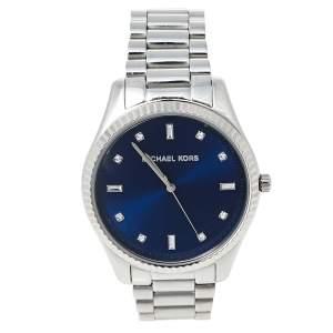 Michael Kors Blue Stainless Steel Blake MK3225 Unisex Wristwatch 41.50 mm