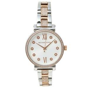 Michael Kors Silver Gold Plated Stainless Steel Sofie MK3880 Women's Wristwatch 36 MM
