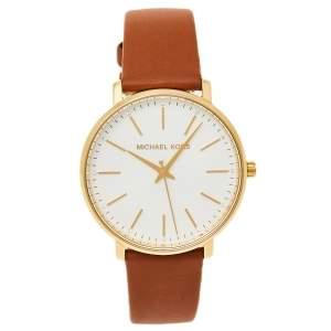 Michael Kors Silver Gold Tone Stainless Steel Pyper MK2740 Women's Wristwatch 38 MM