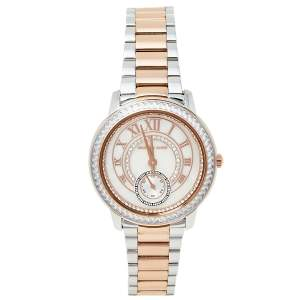 Michael Kors Mother of Pearl Two-Tone Stainless Steel Madelyn MK6288 Women's Wristwatch 40 mm