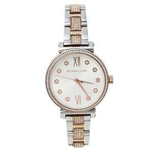 Michael Kors Silver Two-Tone Stainless Steel Sofie MK3880 Women's Wristwatch 36 mm
