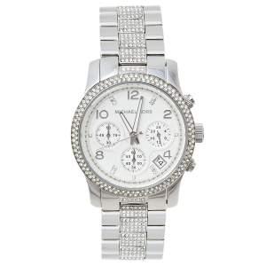 Michael Kors Silver Stainless Steel Runway Glitz MK5825 Women's Wristwatch 38 mm