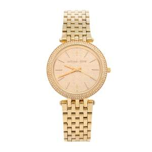 Michael Kors Yellow Gold Tone Stainless Steel Darci MK3398 Women's Wristwatch 39 mm