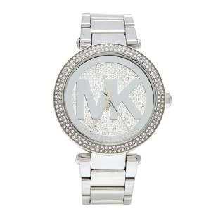 Michael Kors Crystal Stainless Steel Parker MK5925 Women's Wristwatch 39 mm