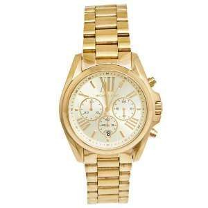 ساعة يد نسائية مايكل كورس برادشو MK-5605 ستانلس ستيل مطلي ذهب شامبين 40 مم
