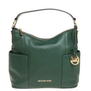 MICHAEL Michael Kors Green Leather Anita Hobo