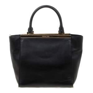 Michael Michael Kors Black Leather Top Handle Bag