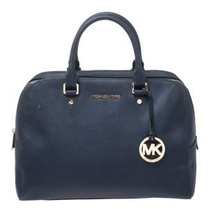 MICHAEL Michael Kors Blue Leather Boston Bag