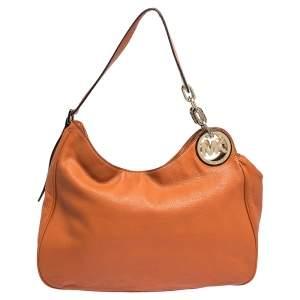 MICHAEL Michael Kors Orange Leather Fulton Hobo