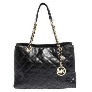 MICHAEL Michael Kors Black Leather Susannah Tote