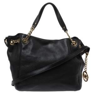 MICHAEL Michael Kors Black Leather Chain Shoulder Bag