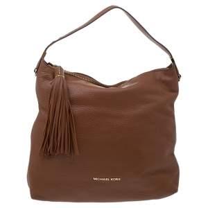 MICHAEL Michael Kors Brown Leather Bedford Tassel Shoulder Bag