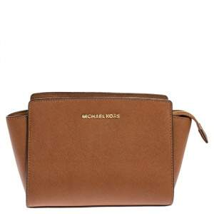 MICHAEL Michael Kors Brown Leather Medium Selma Crossbody Bag