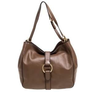 MICHAEL Michael Kors Brown Leather Quincy Shoulder Bag