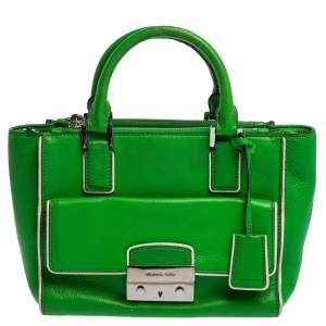 Michael Micheal Kors Green Leather Audrey Tote