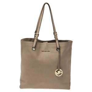 MICHAEL Michael Kors Brown Leather Jet Set North South Tote