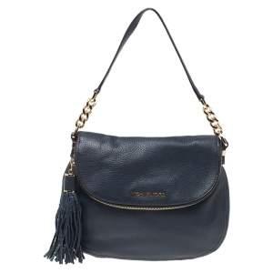 Michael Michael Kors Blue Leather Bedford Top Handle Bag