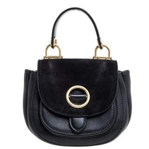 MICHAEL Michael Kors Black Leather and Suede Isadore Shoulder Bag