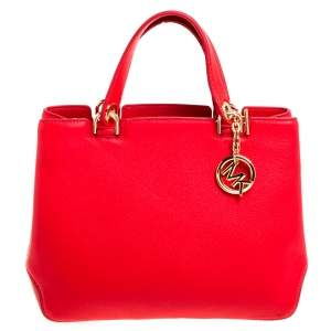 MICHAEL Michael Kors Red Leather Anabelle Tote
