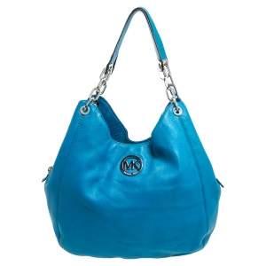 MICHAEL Michael Kors Blue Leather Hobo