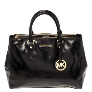 حقيبة مايكل مايكل كورس سوتون جلد أسود