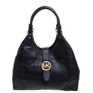 MICHAEL Michael Kors Black Leather Hudson Hobo