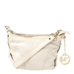 MICHAEL Michael Kors Off White Leather Crossbody Bag