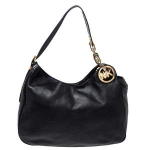 MICHAEL Michael Kors Black Leather Fulton Hobo