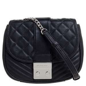 MICHAEL Michael Kors Black Quilted Leather Sloan Shoulder Bag