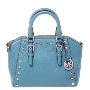 حقيبة ساتشل مايكل مايكل كورس ترصيعات متوسطة جلد زرقاء