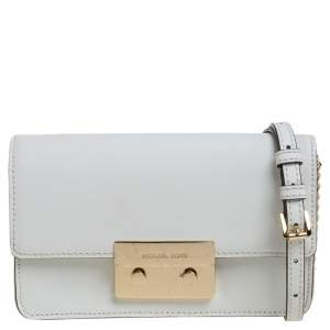 MICHAEL Michael Kors White Leather Sloan Crossbody Bag